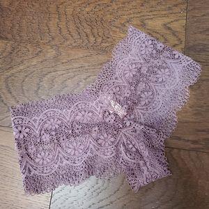 Victoria's Secret S NWT purple lace shortie cheeky